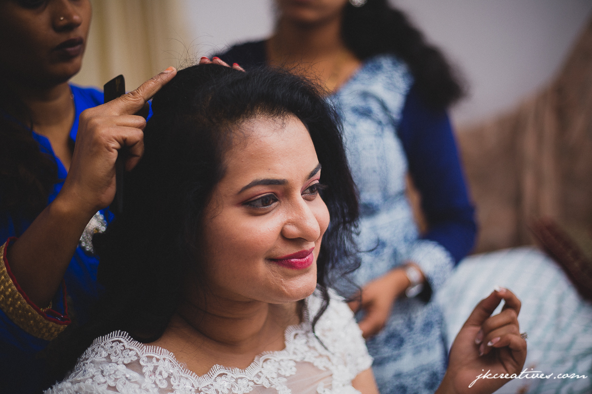 Bride - Christian Wedding at Coimbatore - Candid Wedding Photographer at Coimbatore, Hyderabad, Chennai, Bangalore, Cochin, Kochi, Ernakulam, Erode, Ooty, Mumbai, Delhi, Kolkatta