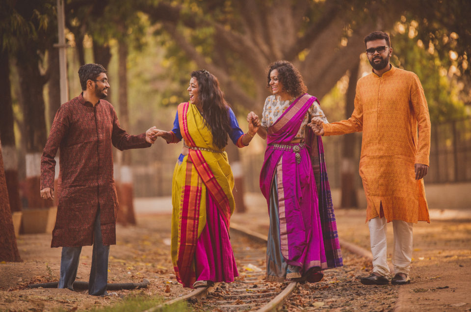 Gautam & Laxmi and Vivek & Laita // Outdoor Couple Shoot // Candid Wedding Photographers in Ahmedabad